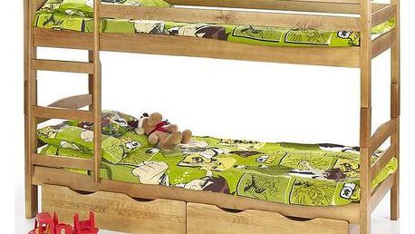 Dětská dvoupatrová postel Sam borovice