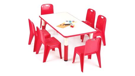 Dětský stolek Simba, obdelník červená