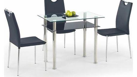 Skleněný stůl Lester 90 Mléčná