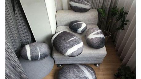 Povlak na polštář v realistické podobě kamene - více druhů