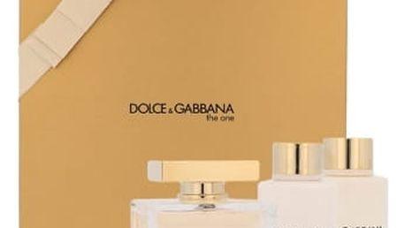 Dolce & Gabbana The One dárková kazeta pro ženy parfémovaná voda 75 ml + tělové mléko 100 ml + sprchový gel 100 ml