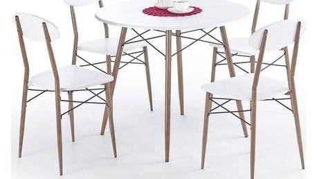 Jídelní set Record kulatý + 4 židle