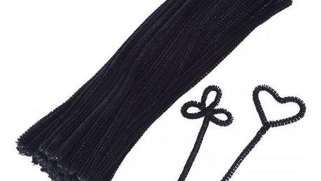 Plyšové drátky černé - 100 ks