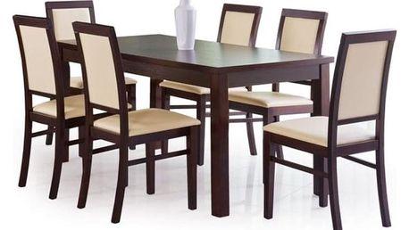 Dřevěný jídelní stůl Ernest 160 cm tmavý ořech