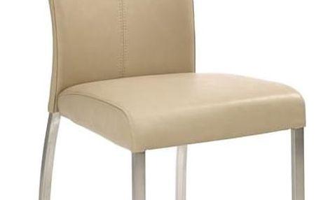 Kovová židle K178 tmavě béžová