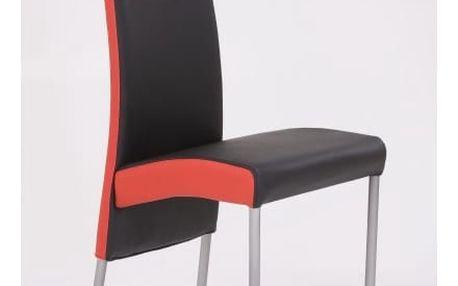 Kovová židle K51 černá/červená