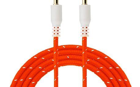Prodlužovací pletený AUX kabel 3,5 mm - 1 m / různé barvy