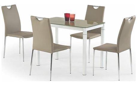 Skleněný stůl Argus Béžová
