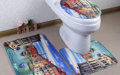 Třídílná sada koberečků do koupelny - Benátky - dodání do 2 dnů