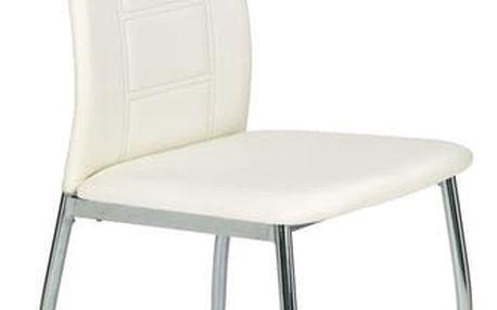 Kovová židle K134 bílá