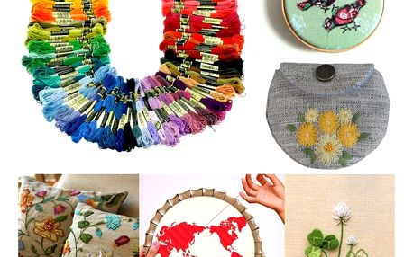 Sada bavlnek - 100 různých barev