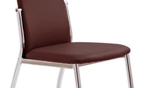 Kovová židle K3 hnědá