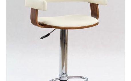 Barová židle H-12 ořech/béžová