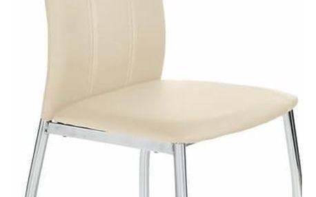 Kovová židle K187 béžová