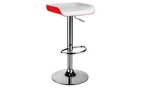 Barová židle H-27 bílá-červená