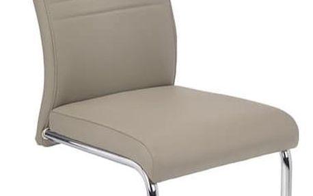 Kovová židle K183 tmavě krémová