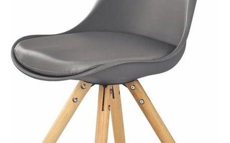 Jídelní židle K201 šedá