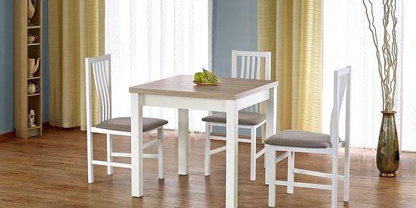 Dřevěný rozkládací jídelní stůl Gracjan bílá2