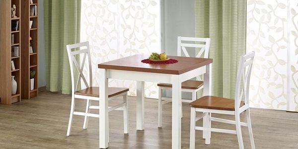 Dřevěný rozkládací jídelní stůl Gracjan bílá3