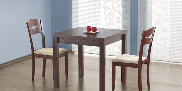 Dřevěný rozkládací jídelní stůl Gracjan bílá4