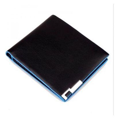 Stylová pánská peněženka v černo-modré barvě