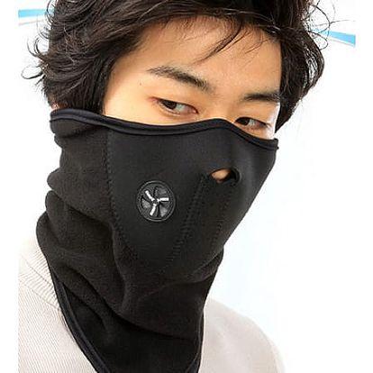 Textilní fleecový nákrčník s maskou