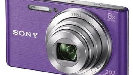 Digitální fotoaparát Sony DSC-W830V fialový + Doprava zdarma