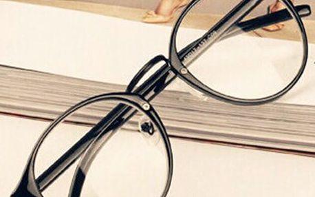 Módní kulaté nedioptrické brýle