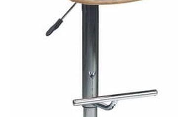Barová židle H-45 světlý dub/černá