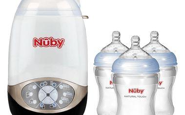 NUBY Elektrický sterilizátor DeLux + 3 láhve