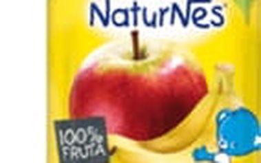 6x NESTLÉ NATURNES Banán, Jablko (90g) - ovocná kapsička