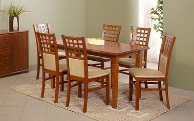 Dřevěný jídelní stůl Marcel tmavý ořech