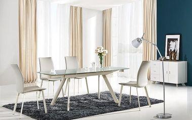 Skleněný rozkládací jídelní stůl Maximus