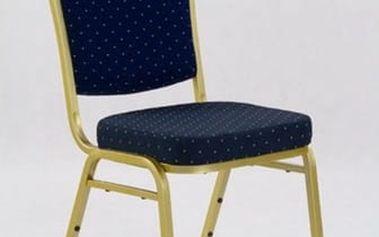 Kovová židle K66 modrá