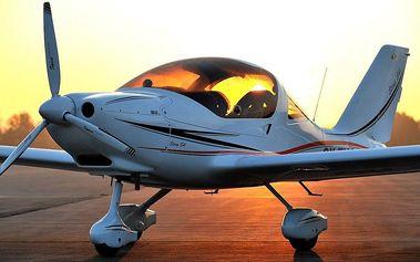 Vyhlídkový let vč. pilotování v okolí Hodonína