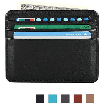 Pouzdro z umělé kůže na platební karty i bankovky