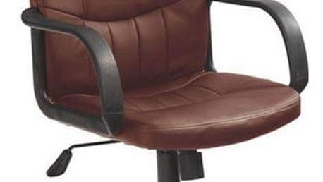 Kancelářská židle Denzel tmavě hnědá