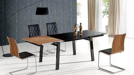 Skleněný rozkládací jídelní stůl Benedikt