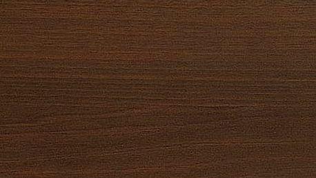 Dřevěný jídelní stůl Ernest 120 cm tmavý ořech