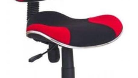 Dětská židle Flash černá/červená