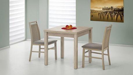 Dřevěný rozkládací jídelní stůl Gracjan tmavý ořech