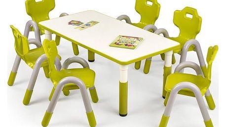Dětský stolek Simba, obdelník zelená