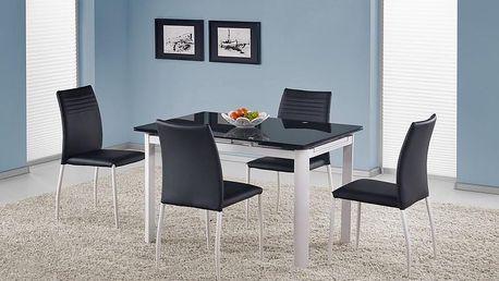 Skleněný rozkládací stůl Alston černá