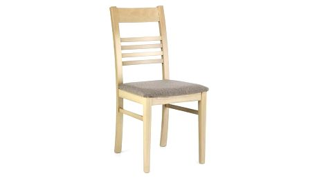 Dřevěná židle Juliusz dub sonoma/šedá (tkanina)