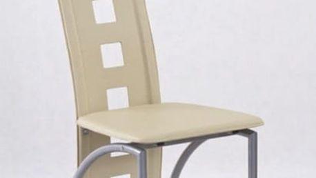 Kovová židle K4 M tmavě krémová