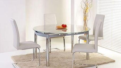 Skleněný jídelní rozkládací stůl Nestor