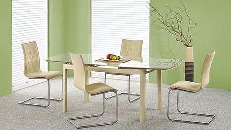 Skleněný rozkládací stůl Kayden