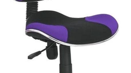 Dětská židle Flash černá/fialová