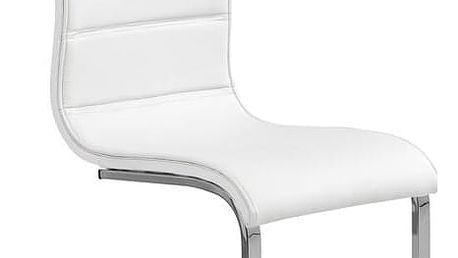 Kovová židle K104 bílá
