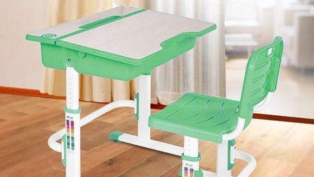 Dětský psací stůl a židle Astro 2 zelená